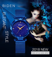 Elegant Blue Wristwatch for Women - BarnKey.com