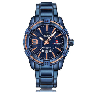 Luxury Mens Quartz Steel Sports Watch - BarnKey.com