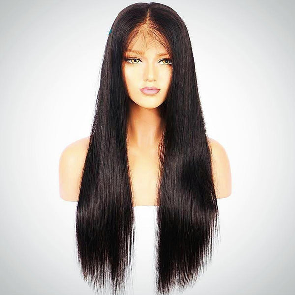 Lace Wigs: Human Hair Wigs - Straight Brazilian Hair - BarnKey.com