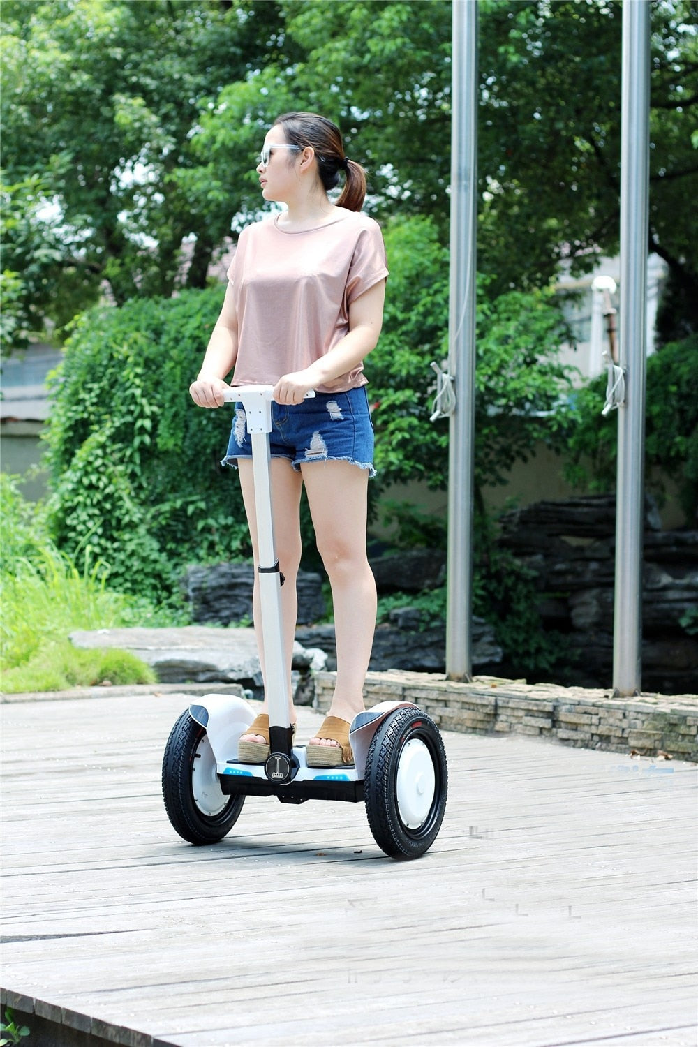 Daibot Electric Scooter Hoverboard with Handle - BarnKey.com