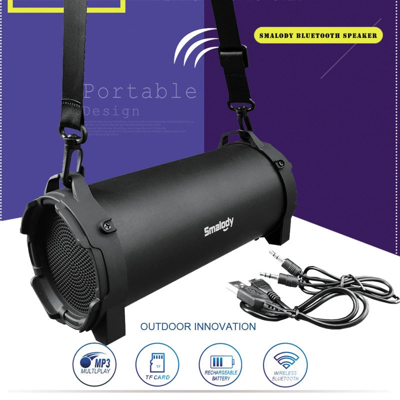 Wireless Bluetooth Bass Speaker with Radio MP3 player - BarnKey.com