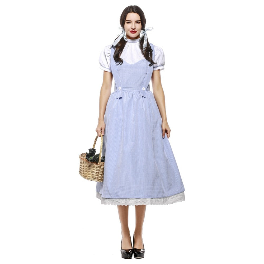Wizard of OZ Dorothy Cotton Costume Halloween - Plus Size - BarnKey.com