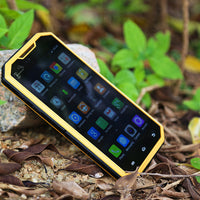HK Warehouse KEN XIN DA PROOFINGS W7 Rugged Smartphone - Android 6.0, 4G, 5 Inch 720P, Quad Core CPU, Dual SIM, IP68 (Yellow) - Beewik-Shop.com