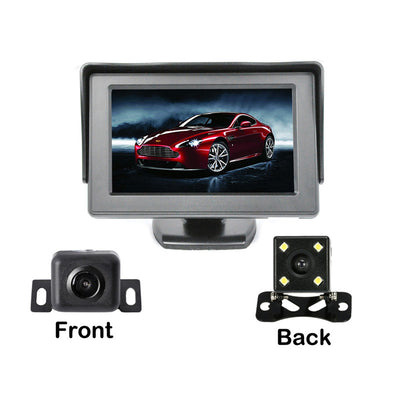 Rearview Camera Kit - 4.3 Inch Display, 2 Cameras, Waterproof, Nightvision - Beewik-Shop.com