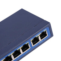10 Port PoE Switch - Supports 8 Devices, 150m Transmitting Range, 100Mbps, Short-Circuit Protection, Energy Efficient