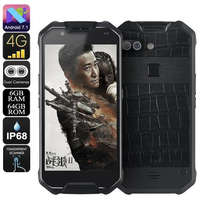 AGM X2 SE-Leather Rugged Phone- Android 7.1, Octa-Core CPU, 6GB RAM, IP68, 1080p Display, 12MP Dual-Camera, Dual-IMEI, 4G - Beewik-Shop.com