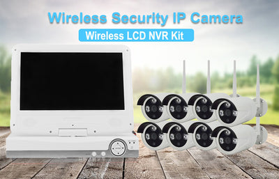 8 Channel NVR Kit - Linux OS,8x HD Camera, 1080P 10-Inch Display, Nightvision, WiFi Support, SATA Hard Disk, 8TB Storage Capaci - Beewik-Shop.com