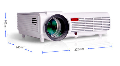3000 Lumens LED Projector - 5.8 Inch LCD Panel, 2000_1 Contrast Ratio, 1920x1080 DPI Resolution - Beewik-Shop.com