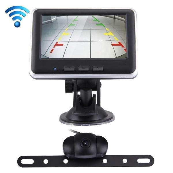 2.4GHz Wireless 4.3 inch TFT Car Rearview Monitor Day / Night Camera System Kit(Black)