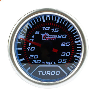 Kit de jauge automobile universelle 2 pouces / 52mm 12V, Kit de jauge automobile blanche LED 35 PSI Turbo Boost Vacuum Meter - Beewik-Shop.com