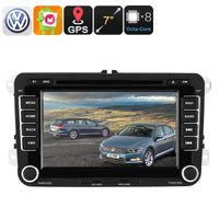 2 DIN Car DVD Player - For Volkswagen Passat, 7 Inch HD Display, Region Free DVD, Bluetooth, WiFi, 3G, CAN BUS, GPS, Android 6