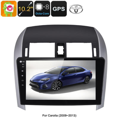 Autoradio Multimédia 2 DIN Toyota Corolla - Octa Core CPU, 2 Go de RAM, 10,2 pouces à écran tactile, CAN BUS, GPS, Bluetooth, Android 6.0 - Beewik-Shop.com