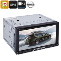 2DIN Car DVD Player - Universal Nissan, 6.95-Inch, Android OS, Quad-Core, CAN BUS, DVD Player, 20 Channel GPS