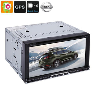 Autoradio multimediale 2DIN - Nissan universale, 6,95 pollici, sistema operativo Android, Quad-Core, CAN BUS, lettore DVD, GPS a 20 canali - Beewik-Shop.com