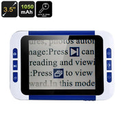 3.5-Inch Portable Digital Magnifier - LCD Display, 2x To 32x Magnification, Three Color Modes, 32GB SD Card Slot, 1050mAh