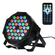 36 LED 1W Par Lights RGB Changeable Color 7 Modes d'éclairage Eclairage de scène Télécommande DMX Control Disco Lights US Plug - Beewik-Shop.com