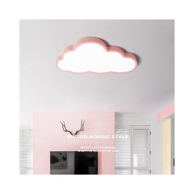 Plafonnier de décoration en forme de nuage 36W/48W LED 220V Rose 3 couleurs dimming_50X28CM_(57x35x12CM 1.7KG) - Beewik-Shop.com