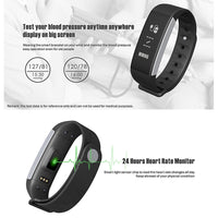 C9 Sports Tracker Bracelet - Pedometer, Calorie Counter, Heart Rate, Blood Pressure, Bluetooth 4.0, IP67 (Violet) - Beewik-Shop.com