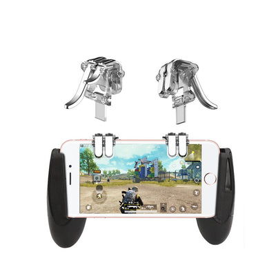 4-Click Metal PUBG Mobile Controller Portable Gamepad L1 R1 Trigger Aim L1R1 Shooter Phone Game Fire Button Transparent - Beewik-Shop.com