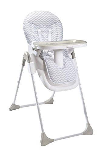 Badabulle Chaise Haute Easy Blanc Gris Bebe Pliable Reglable Inclinable