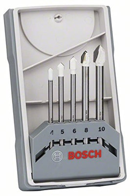 Bosch 2608587169 Set de 5 Forets à carrelage CYL-9 céramique 4,0/ 5,0/ 6,0/ 8,0/ 10,0 mm - Beewik-Shop.com