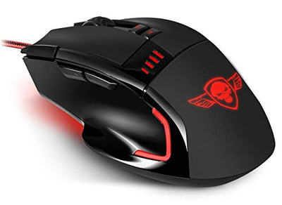 SPIRIT OF GAMER Gaming Mouse Pro-M5 USB/Résolution 3200 dpi / 7 Boutons Dont 1 Rapid Fire/câble Nylon tressé/Rétro-éclairage Rouge Victory - Beewik-Shop.com