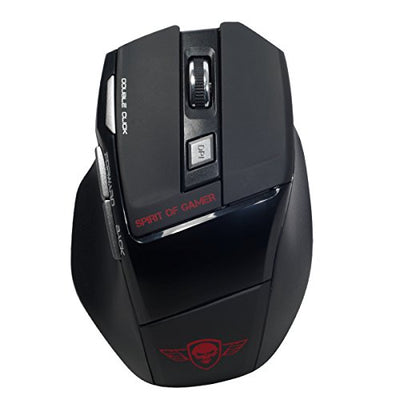 SPIRIT OF GAMER Gaming Mouse Wireless PRO-M9 / Capteur Optique Avagon A3000 2000 DPI / 7 Boutons/Molette Multidirectionnelle, Ultra-rapide et silencieuse - Beewik-Shop.com