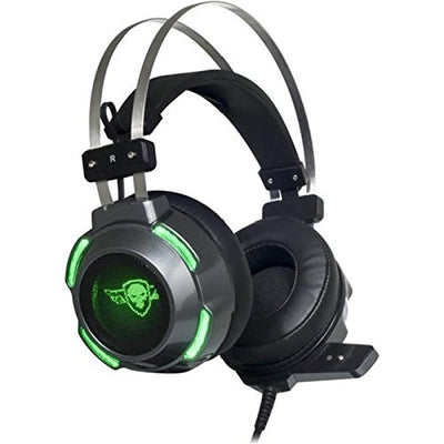 Spirit Of Gamer Casque Gaming PC ELITE-H30 / Prise Jack 2 x 3,5 mm/Son Stereo 2.0 avec HP 50 mm aimants néodyme/Ultra Light Conception/LEDs Verts - Beewik-Shop.com