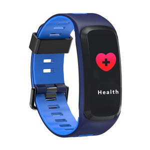 NO.1 F5 Fitness Tracker Bracelet - 0.96 Inch OLED Screen, Bluetooth 4.0, Multi-sport Mode, Heart Rate, Blood Pressure (Blue)