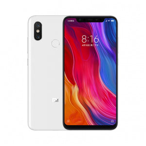 Xiaomi Mi 8 Smartphone - 6.21 Inch AMOLED Screen, Octa Core, 128GB ROM, Dual GPS, Fingerprint, NFC (White)