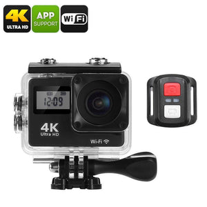 4K Sports Action Camera - 170-Degree Lens, WiFi, 2 Inch Display, IP68 Waterproof Case, 16MP CMOS Sensor, App Support