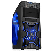 SPIRIT OF GAMER X-FIGHTER SERIES 41 BLUE MANA - Boîtier GAMING châssis ATX/mATX/mITX / 8 Baies DD / 7 Ports d'extension / USB 3.0 / 2 Ventilateurs - Beewik-Shop.com