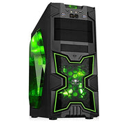SPIRIT OF GAMER X-FIGHTER SERIES 41 GREEN ARMY - Boîtier GAMING châssis ATX/mATX/mITX / 8 Baies DD / 7 Ports d'extension / USB 3.0 / 2 Ventilateurs - Beewik-Shop.com