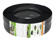12 Mètres Bordure de Gazon en Plastique 125/4 mm de Amispol® - Bordures de Pelouse - Flexible Bordure de Jardin, Bordure de Pelouse Flexible, Pliable Garden Lawn, Idées de Jardin, Jardin Conception (12m, Noir) - Beewik-Shop.com