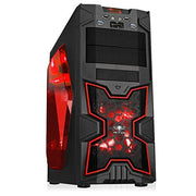 SPIRIT OF GAMER X-FIGHTER SERIES 41 RED VICTORY - Boîtier GAMING châssis ATX/mATX/mITX / 8 Baies DD / 7 Ports d'extension / USB 3.0 / 2 Ventilateurs - Beewik-Shop.com