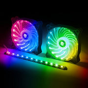 SPIRIT OF GAMER Kit Ventilateurs 120 mm RGB + Barre LED RGB AIRLIGHT avec Télécommande: Le kit Ultime pour customiser Votre Setup !!! - Beewik-Shop.com