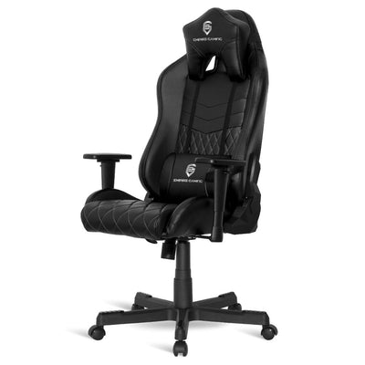 EMPIRE GAMING – Chaise Gamer Mamba Noir inclinable - Ergonomique et Confortable - Réglable en Hauteur - Accoudoirs 3D réglables - Coussins lombaires et Nuque Inclus