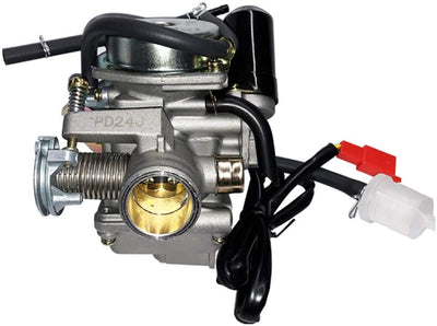Evermotor Motorcycle24mm carburateur PD24Jpour GY6 100cc 125cc 150cc ATV UTV Go Kart Cyclomoteur Scooter moteurs - Beewik-Shop.com