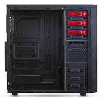 SPIRIT OF GAMER X-FIGHTER SERIES 41 RED VICTORY - Boîtier GAMING châssis ATX/mATX/mITX / 8 Baies DD / 7 Ports d'extension / USB 3.0 / 2 Ventilateurs