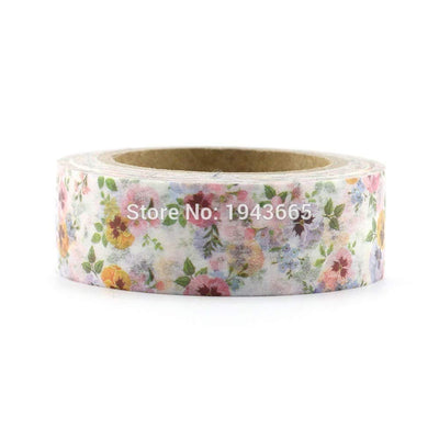 SHUCHANGLE Bricolage Fleur Washi Tape Papier Rubans De Masquage Autocollants Décoratif Papeterie Bande Floral (10 Pcs/Ensemble) - Beewik-Shop.com