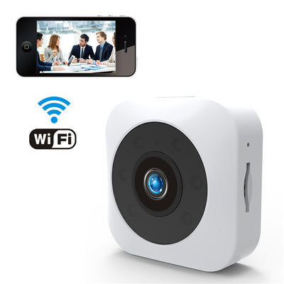 HD Mini WiFi Camera WhiteHD Mini WiFi Camera - 720P, Infrared Night Vision, APP, Support Micro SD, Magnetic Mount (White) - Beewik-Shop.com