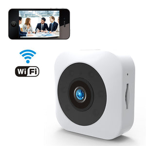 HD Mini WiFi Camera WhiteHD Mini WiFi Camera - 720P, Infrared Night Vision, APP, Support Micro SD, Magnetic Mount (White)