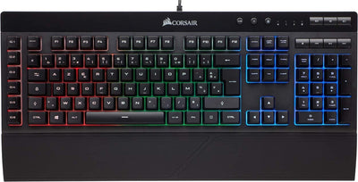 Corsair K55 Clavier Gaming (Rétro-Éclairage RGB Multicolore, AZERTY) Noir - Beewik-Shop.com