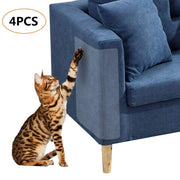 4 pcs Scratch Protector, arrête Cat Scratch Protège Pas de Broches, Protection Meubles à partir de l'arbre à Chat Transparente Souple à Chat Chats Meubles Defender, 18,5 x 5,9 PO - Beewik-Shop.com