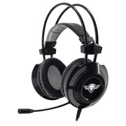 "SPIRIT OF GAMER Casque Gaming PC ""ELITE-H70"" USB 7.1 - HP 50 mm aimants néodyme - Logiciel inclus - Son surround virtuel 7.1 -Ultra light conception - Black + leds blanches - Beewik-Shop.com"