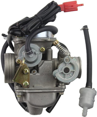 GOOFIT 24mm PD24J Carburateur Carb pour GY6 4 Stroke 125cc 150cc ATV Go Kart Cyclomoteur et Scooter - Beewik-Shop.com