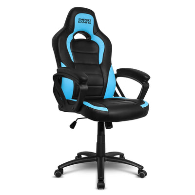 EMPIRE GAMING - Chaise Gamer Racing 500 Series Bleu et Noir Ergonomique - Mécanisme à Bascule- Réglable en Hauteur - Accoudoirs Confortables et Moelleux - Beewik-Shop.com