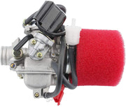 GOOFIT PD24J Performance Carburateur with filtre à air 2 Stage Air pour Yerf Dog Spiderbox GY6 125cc 150cc Go Kart - Beewik-Shop.com