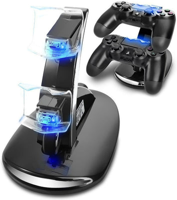 Musou Docking Station Chargeur Support Double USB de Charge Rapide pour Manette Playstation 4 PS4 / PS4 Slim Pro Console Charging Dock Stand avec Indicateur LED - Beewik-Shop.com