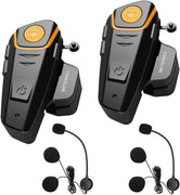 BETOWEY BT-S2 Kit -Intercom Moto Duo pour 2 Casques, une Oreillette Bluetooth Moto Interphone Main Libre - 2 Pack, Microphone Dur - Beewik-Shop.com